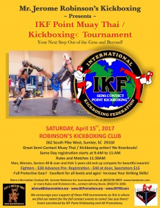 IKF Point Muay Thai / Kickboxing Sparring Tournament Sumter, SC @ Robinson's Kickboxing Club  | Sumter | South Carolina | United States