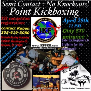 IKF Point Muay Thai / Kickboxing Sparring Tournament, Orlando, Fl @ WestArt District | Orlando | Florida | United States