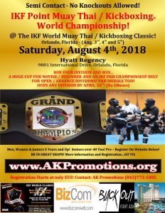 IKF Point Muay Thai / Kickboxing World Sparring Championships @ Hyatt Regency Resort | Orlando | Florida | United States