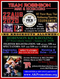 IKF Point Muay Thai / Kickboxing Sparring Tournament, Sumter, SC @ Robinson MMA and Kickboxing | Sumter | South Carolina | United States