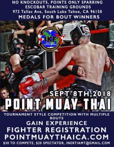 IKF Point Muay Thai / Kickboxing Sparring Tournament, Lake Tahoe, CA  ( c) @ Escobar Training Center | South Lake Tahoe | California | United States