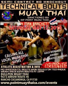 IKF Point Muay Thai / Kickboxing Sparring Tournament, Rancho Cucamonga, CA @ Bull Pen Muay Thai | Rancho Cucamonga | California | United States