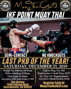 IKF Point Muay Thai Sparring Tournament- Sacramento, CA @ The Atrium Art and Tech. Center | Sacramento | California | United States