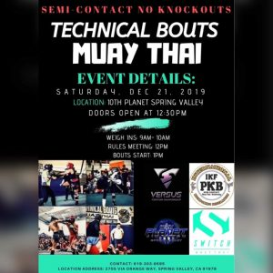 IKF Point Muay Thai Sparring Tournament, Spring Valley, California @ Colton | California | United States