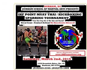 IKF Point Muay Thai /  Kickboxing Sparring Tournament- Durham Martial Arts @ Durham Martial Arts | Durham | North Carolina | United States