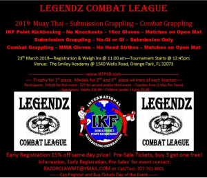 IKF Point Muay Thai / Kickboxing Sparring Tournament- Jacksonville, Florida @ TBA | New York | United States